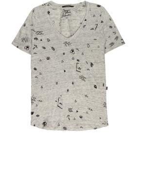 T-shirt 10FEET 750037 - Grijs Mêlée