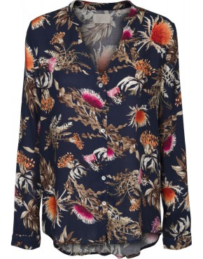 Blouse Minus MI2241 Alexa Shirt - Thistle Print