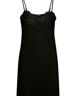 Onderjurk Soaked In Luxury 30403070 Clara Strapdress - Zwart