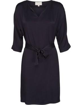 Jurk Minus MI2523 Agnete Dress - Zwartblauw