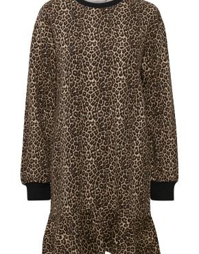 Jurk Soaked In Luxury 30403322 Skilar Sweat Dress - Leopard