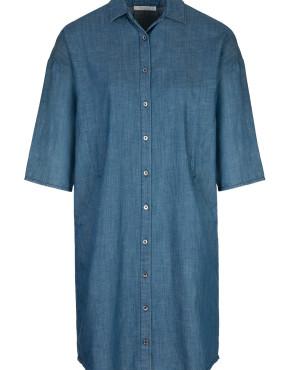 Jurk By-Bar 18417003 Bloeme Dress - Denim
