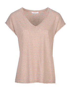 T-shirt By-Bar 19111016 Mila Stripe Top - Sand