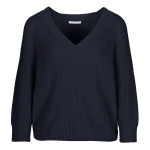 Trui By-Bar 19115011 Lune Cotton Pullover - Deep Ocean