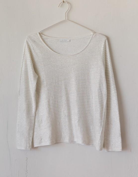 T-Shirt Ese O Ese 107600 Ts. Linen Stripes - Wit