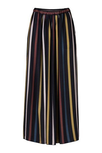 Rok By-Bar 19518104 Linde Stripe Skirt - Nachtblauw