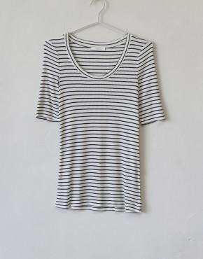 T-shirt Ese O Ese 107735 Ballet Navy- Gebroken Wit
