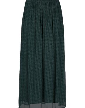 Rok By-Bar 19418113 Pleun Chiffon Skirt - Dark Green