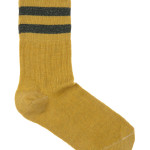 Kous By-Bar Sparkle Stripe Sock - Mustard