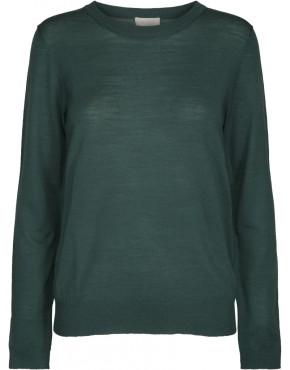 Trui Minus MI2729 Rose Knit Pullover - Hunter Green