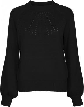 Trui Minus MI3100 Taia Knit Pullover - Zwart