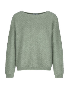 Trui By-Bar 19415015 Venice Solid Pullover - Blue Sage