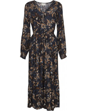Jurk Minus MI3312 Birla Dress - Dark Flower Print