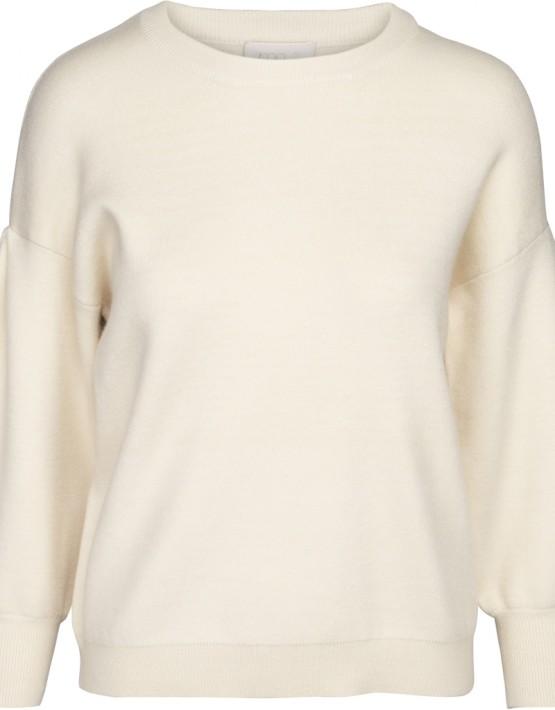 Trui Minus MI3181 Lup Knit Pullover - Vanilla