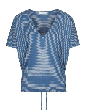 Top By-Bar 20111010 - Donna Melange Stripe Top - Indi Grey