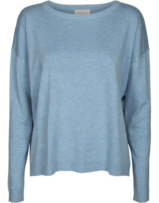 Trui Minus MI2955 - Elne Knit Top - Bounty Blue Melange