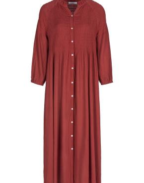 Jurk By-Bar 20517001 - Loulou Smocked Dress - Chili