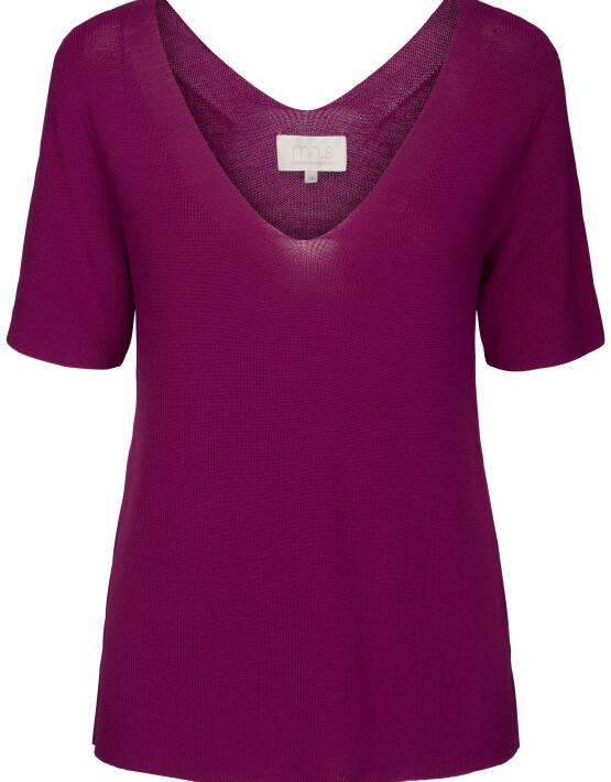 Top Minus MI3623 - Bex Knit Tee - Fuchsia