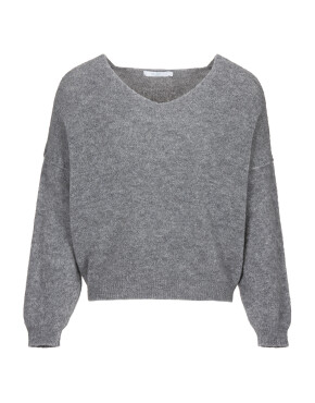 Trui By-Bar 20515017 - Sofie Pullover - Dark Grey Melange