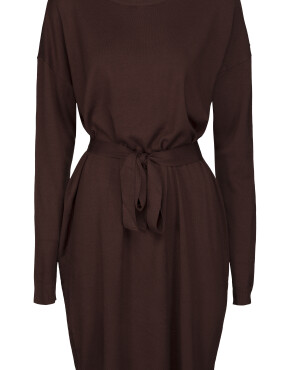 Jurk Minus MI3641 - Elne Knit Dress - Deep Mahogany