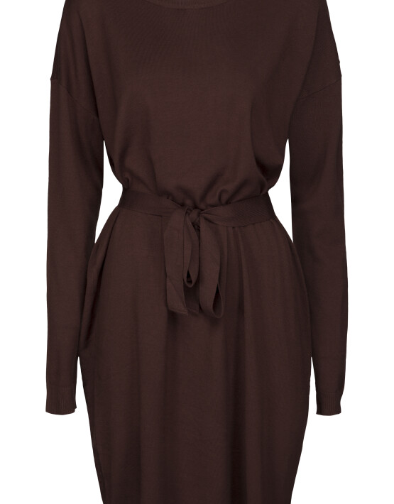 Jurk Minus MI3641 - Elne Knit Dress - Deep Mahogany
