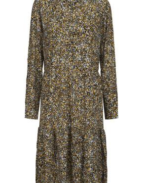 Jurk Minus MI3678 - Sapri Dress - Golden Bloom Print