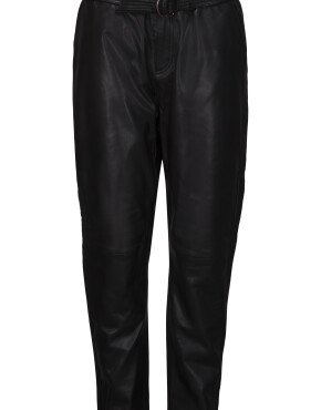 Broek Minus MI3745 - Jessi Leather Pants - Zwart