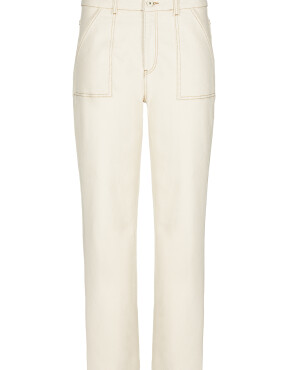 Broek By-Bar 21218024 - Smiley Raw twill - Gebroken Wit
