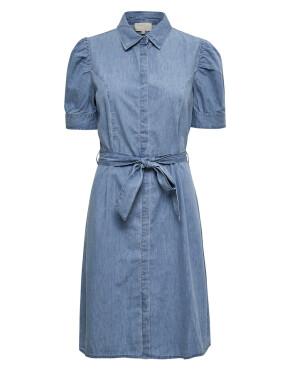Jurk Minus MI3952 - Nikia Shirt Dress - Powder Blue - 99,95 €