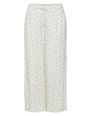 Broek Selected Femme 16078451 - SLF Zelda MW Wide Pant - Gebroken Wit - 69,99€