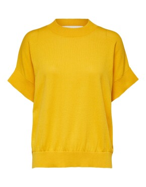 Top Selected Femme 16078649 - SLF Maja SS Knit O-Neck - Citrus - 39,99€