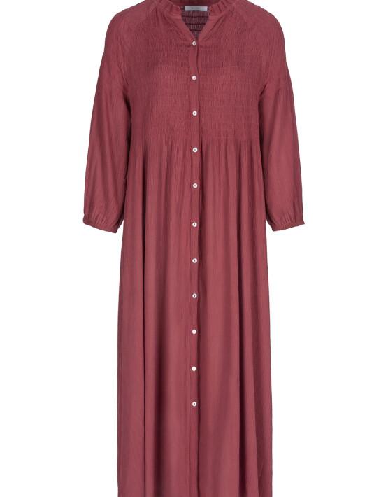 Jurk By-Bar 21217012 - Loulou Smocked Dress - Bright Plum - 119,95€