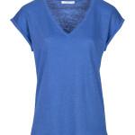 T-shirt By-Bar 21211013 - Mila Linen Top - Kingsblue - 69,95€