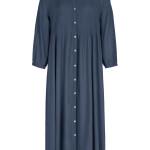 Jurk By-Bar 21217012 - LouLou Smocked Dress - Oil Blue - 119,95€