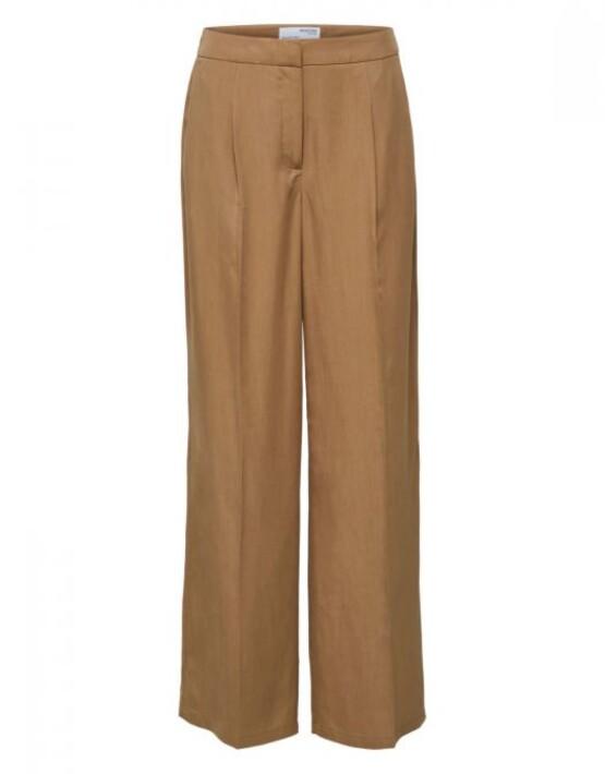 Broek Selected Femme - SLFTinni Wide Pant - Kelp - 79,99€