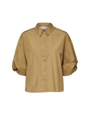 Blouse Selected Femme - SLFLilo SS Shirt - Kelp - 44,99€
