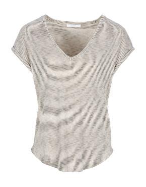 T-Shirt By-Bar 21511006 - Malu Slub Stripes Top - Chalk - 59,95€
