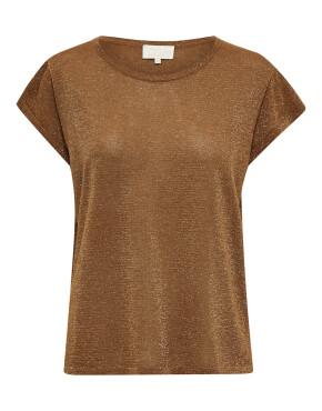 Top Minus MI4035 - Carlina Knit Tee - Walnut Brown Lurex - 59,95€