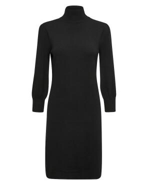 Jurk Minus MI4214 - Mersin Roll Neck Knit Dress - Black - 79,95€